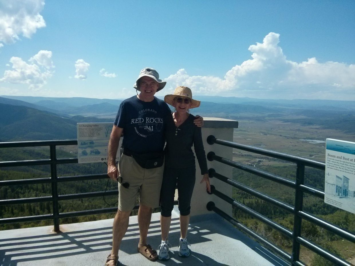 We are from Syosset, N.Y., and are new members of the Over The Hill Gang. We went crane watching, cooked our own steaks at 8th Street Steakhouse, enjoyed waterfall messages at Strawberry Park Hot Springs, hiked Fish Creek Falls and took the gondola up Mount Werner to hike. We're trying to make this our retirement. Submitted by: Rob and Anne Volk