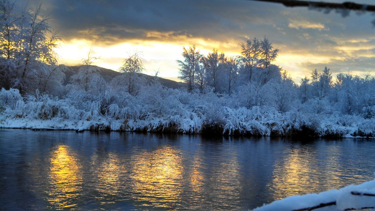 This photo was taken at the Chuck Lewis State Wildlife Area on the Yampa. A beautiful sunrise. Submitted by: Pat Sedlar