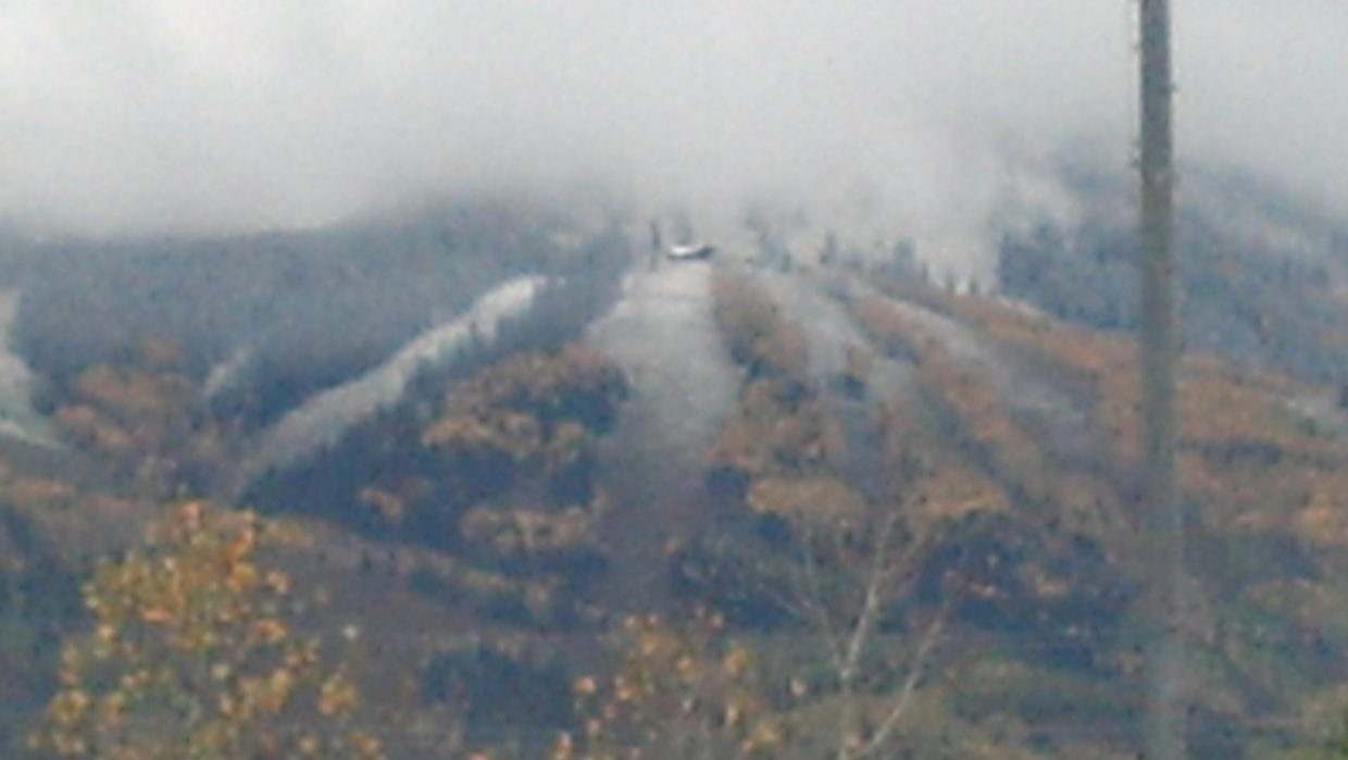 A dusting of snow on Mount Werner. Submitted by Doug Garber.