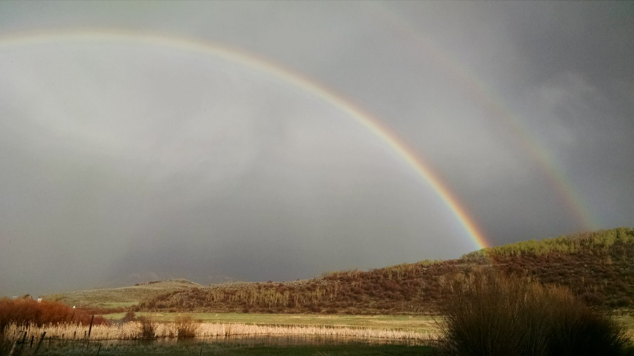 Stagecoach wetlands rainbow. Submitted by Elizabeth Miller.