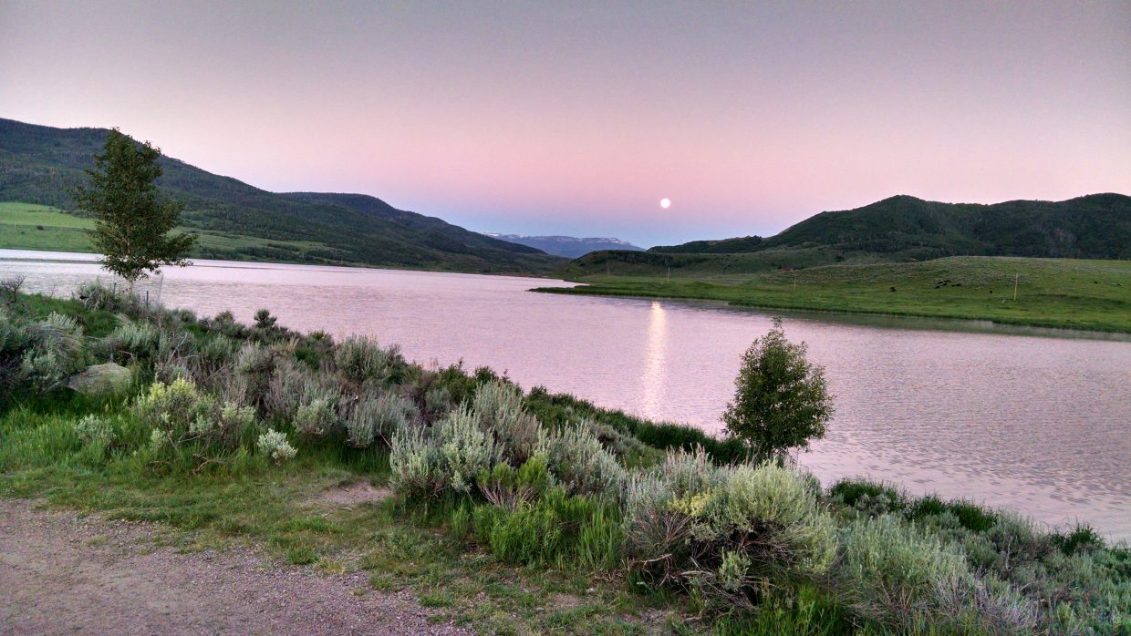Setting Moon — Stagecoach State Park. Submitted by Elizabeth Miller.