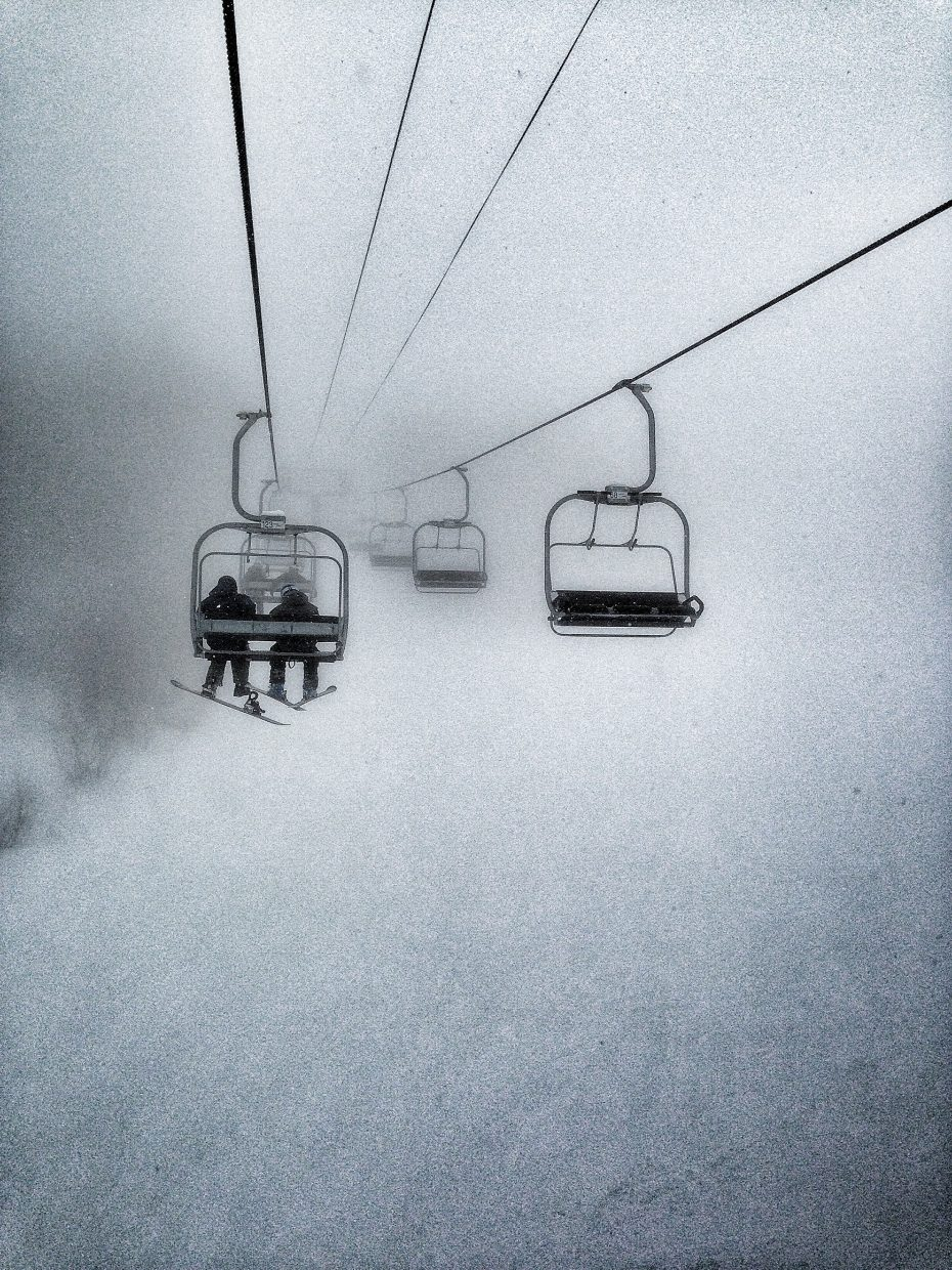 Burgess Creek Chairlift on Sunday. Submitted by: Chris Lanham