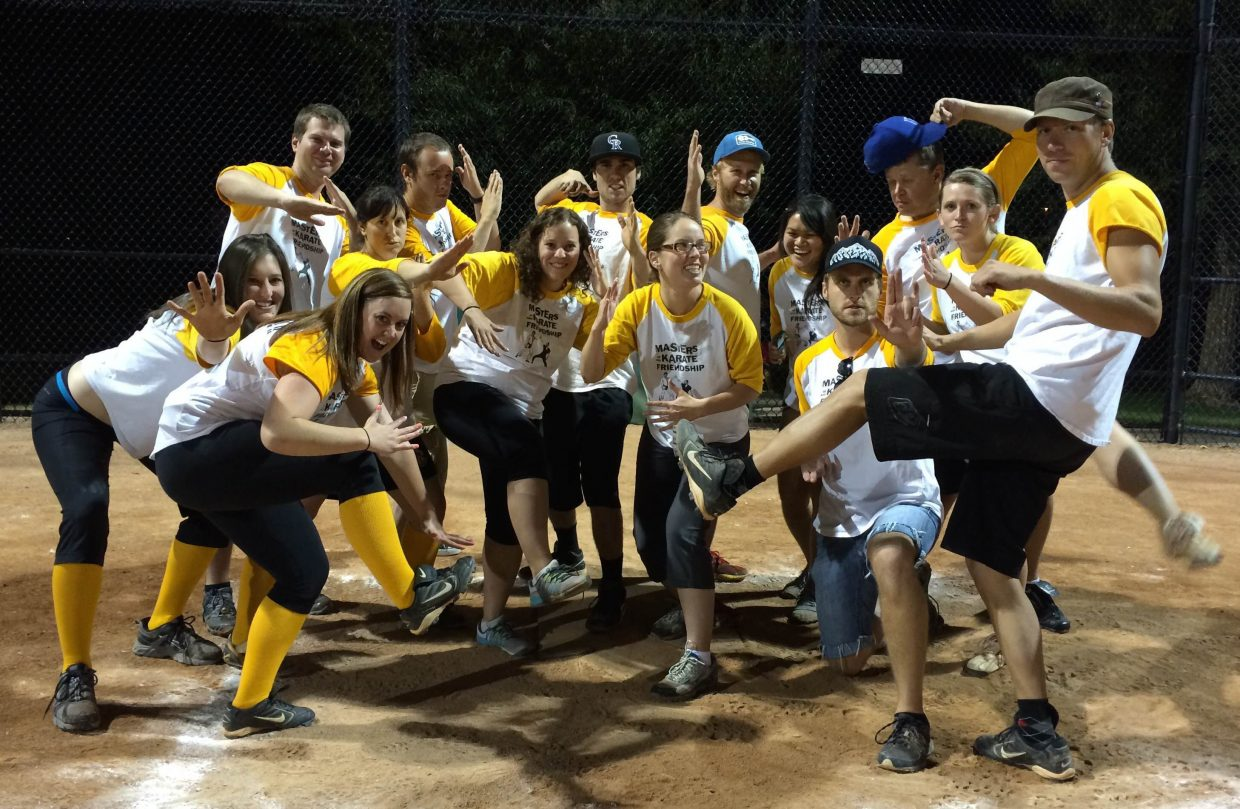 The Masters of Karate and Friendship co-ed D League softball team went 8-8 in the regular season and 3-2 in the playoffs. Submitted by Cynthia Tyler.