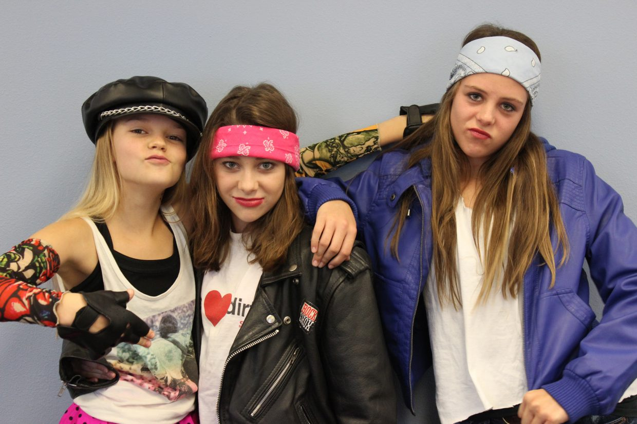 Three of Emerald Mountain School's middle school students in costume for Halloween; they spent the afternoon enjoying the Student Council's Haunted House! Submitted by: Debbie Gooding