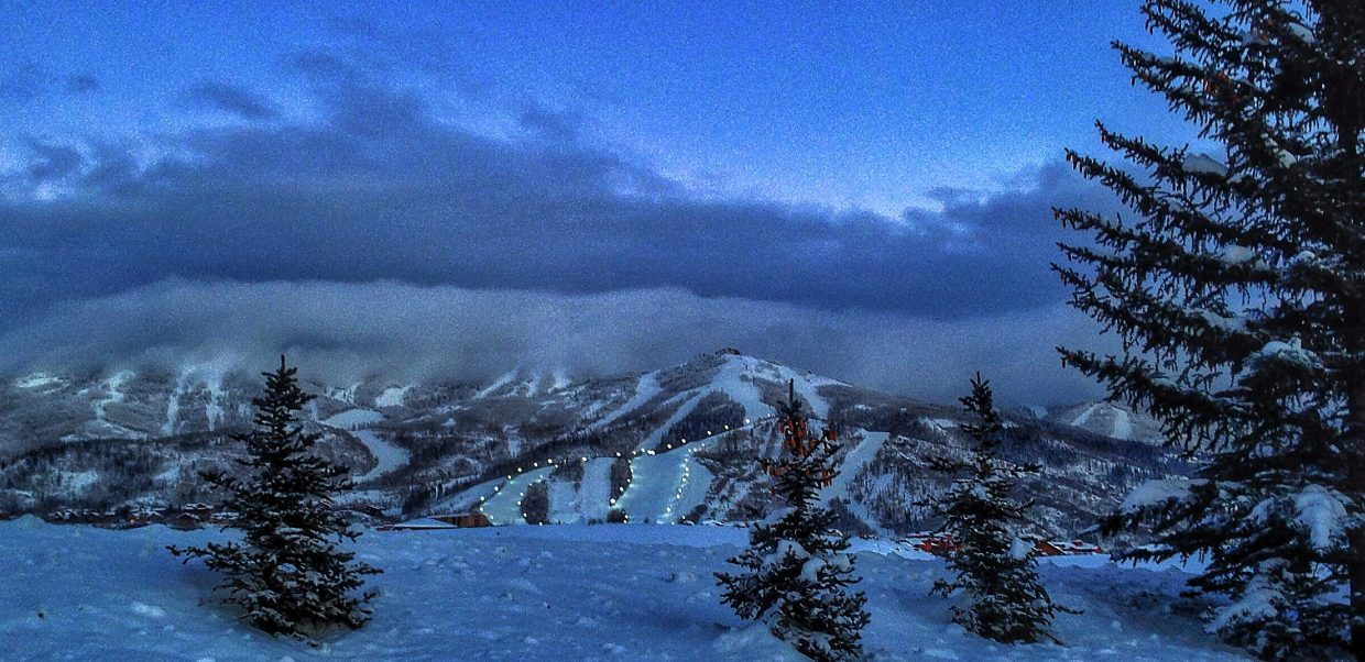 The lights are on after the New Year's Day storm starts to clear. Submitted by: Chris Lanham