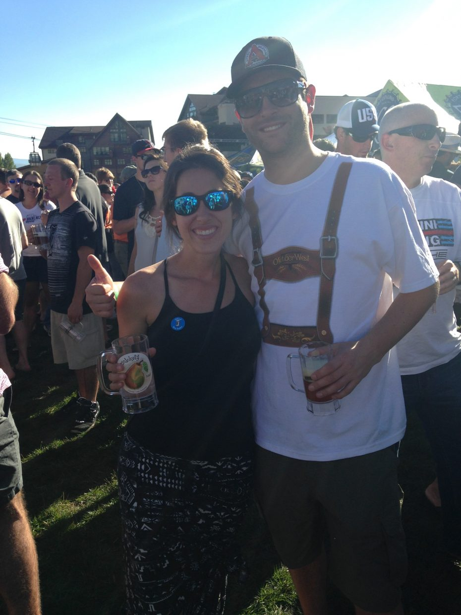 Marra Longo and Patrick Quinn pose for a picture at the 2014 OktoberWest last weekend.