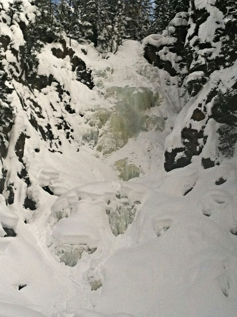 Wanted to share this photo of the frozen waterfall ... so cool! Submitted by: Pam Reid