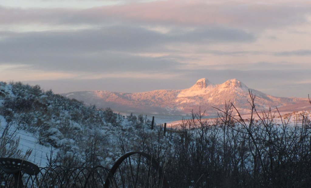 View of Bear's Ears on Monday evening off my porch. Submitted by: Annette Zuber