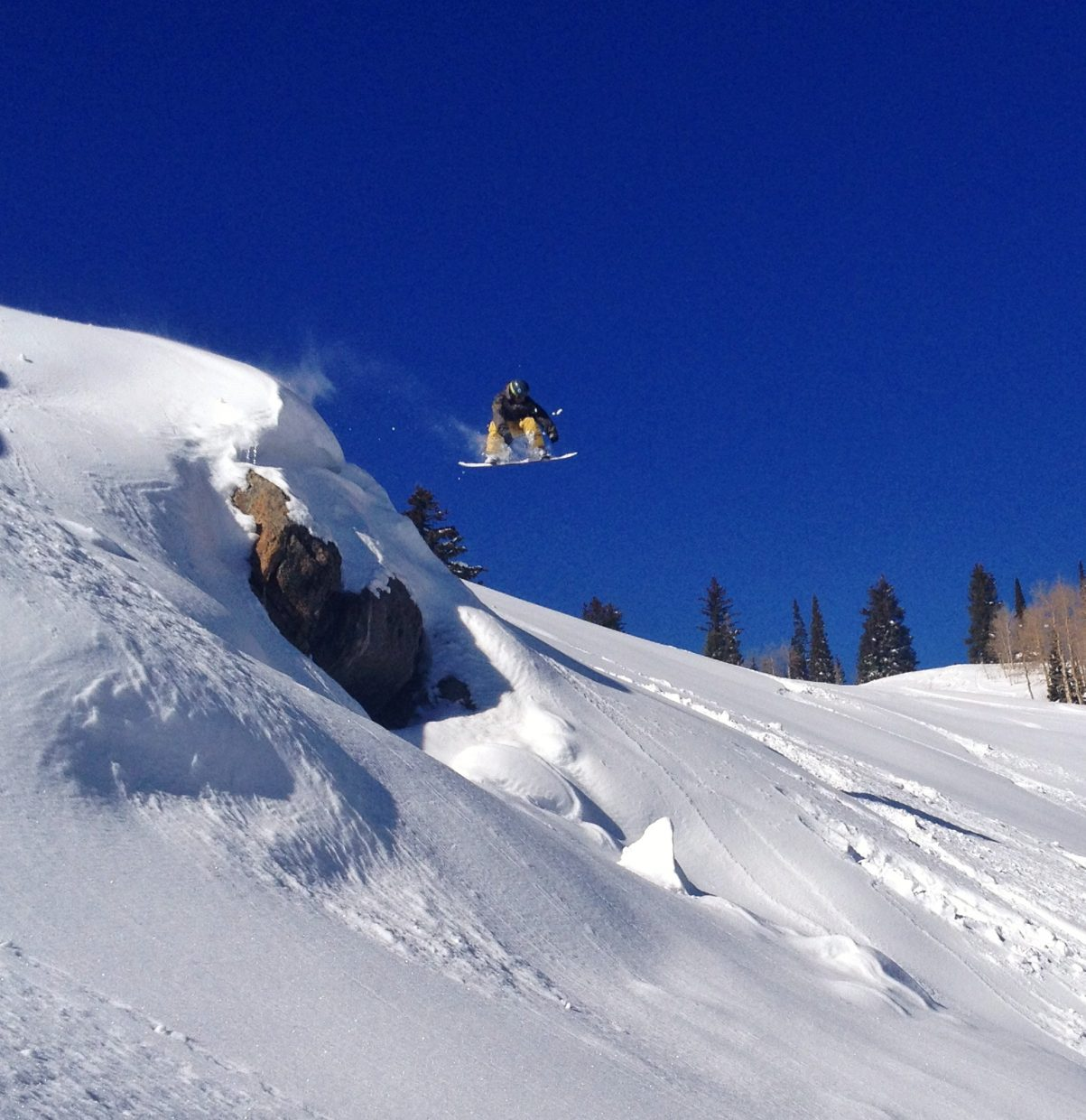 Bertyl Viek sending it off a cliff out Gate 1. Submitted by: Nicholas Herrschaft