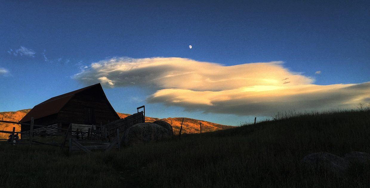 Moon over Steamboat Ski Area. Submitted by: Chris Lanham