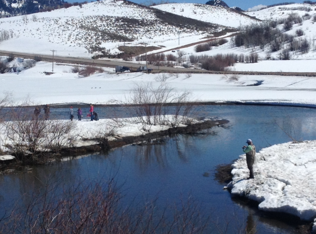 Stagecoach Lake thawing out :) Submitted by Becky Field.