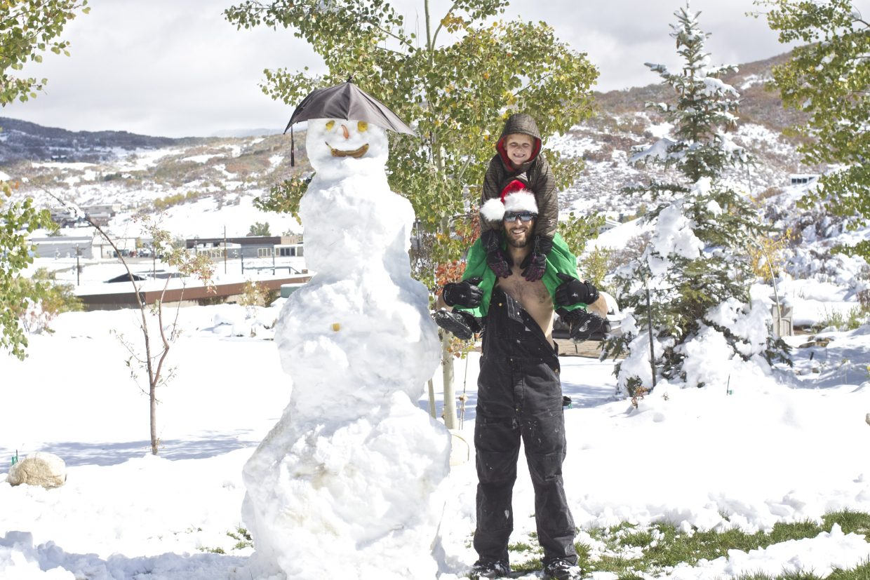 Jeremiah and his dad build an 8.5-foot-tall snowman! Submitted by: Jeremy MacGray