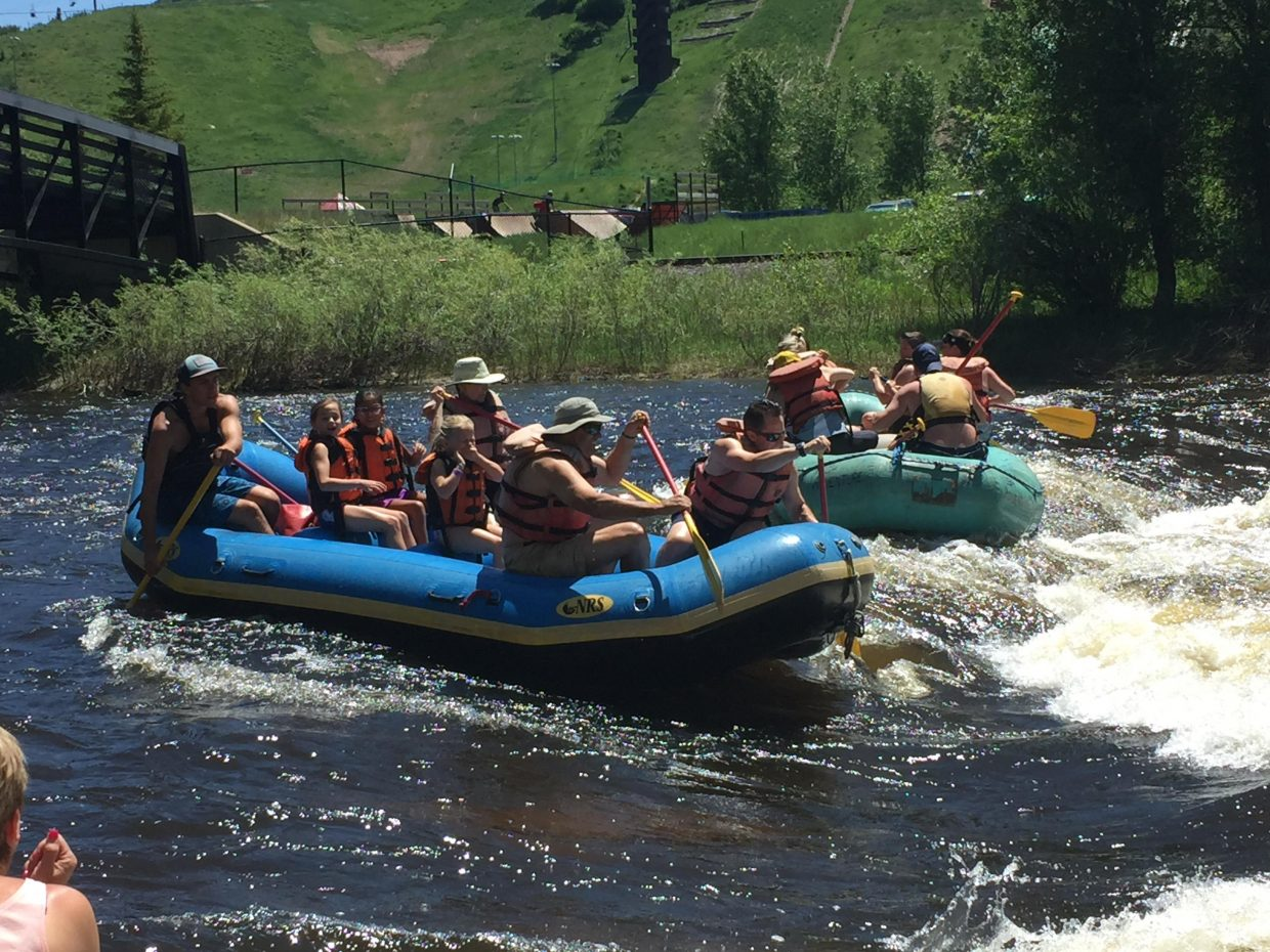 Rafting season on the yampa. Submitted by Karen Lindeman.
