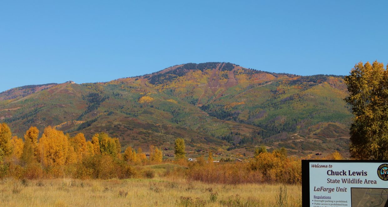 Mount Werner seen from the Chuck Lewis State Wildlife Area. Submitted by: Brian Savoie