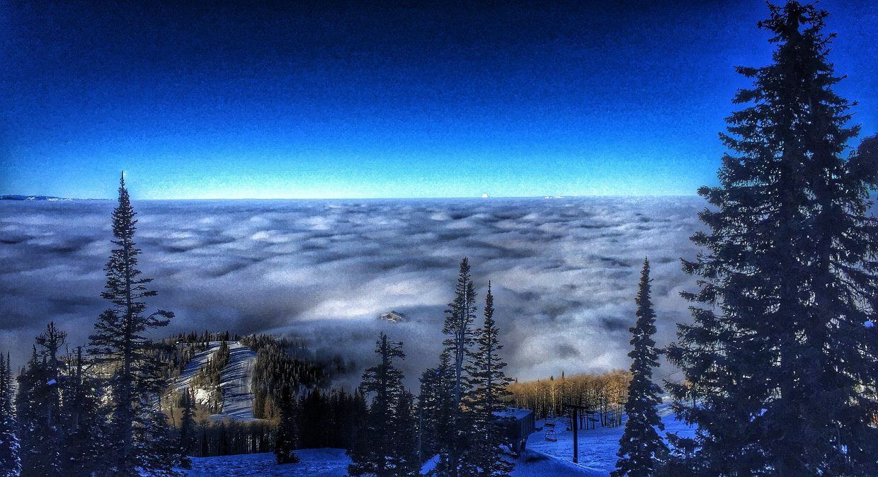 The view from Storm Peak chairlift early Wednesday morning. Submitted by Chris Lanham.