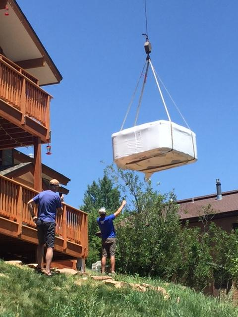 Ryan the stork delivering a hot tub. Submitted by Catherine Kurtz.