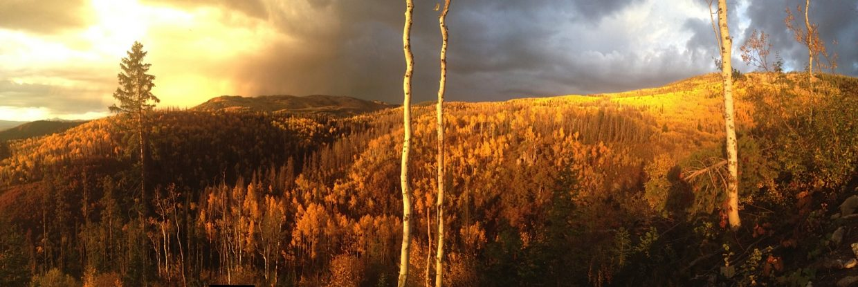 Sunset on the mountain. Submitted by Dave Ornberg.