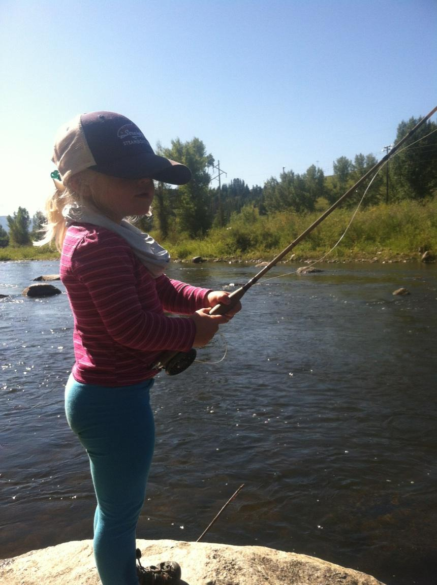 Kelly Bastone took her daughter fishing on the Yampa River.