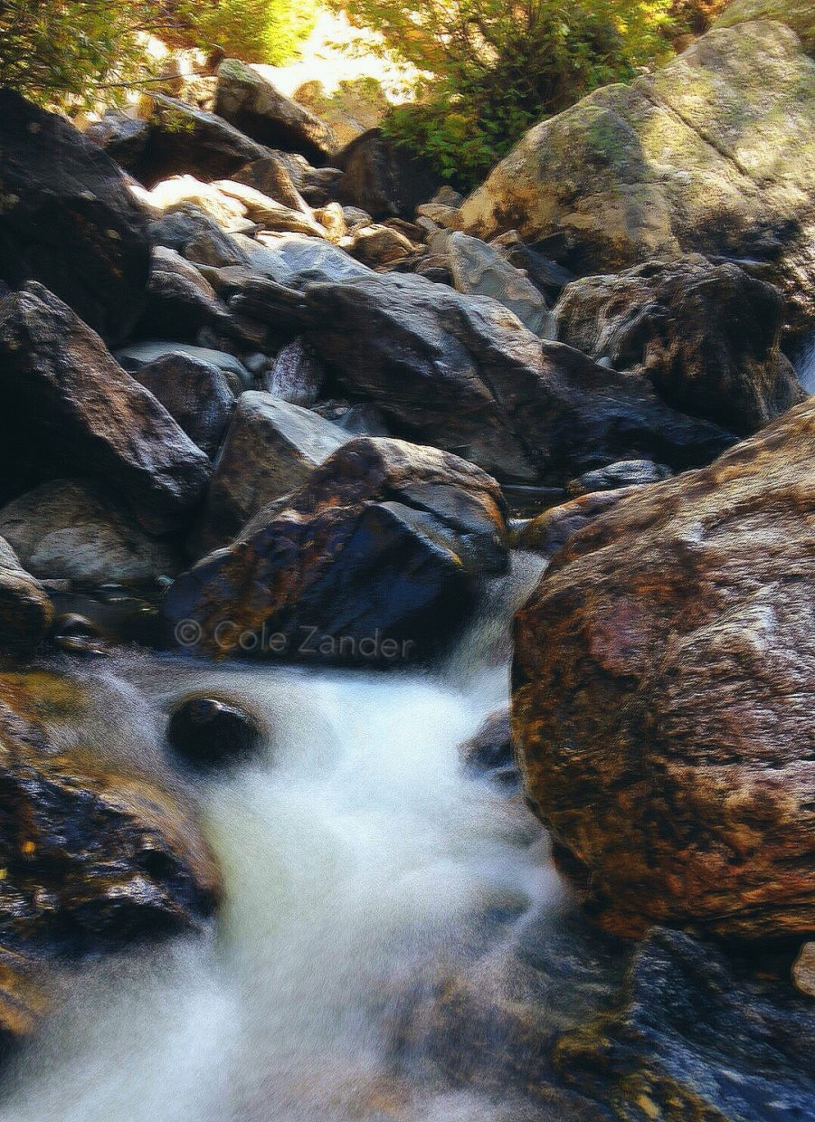 A long exposure photo of a small waterfall at Fish Creek Falls. Submitted by Cole Zander.