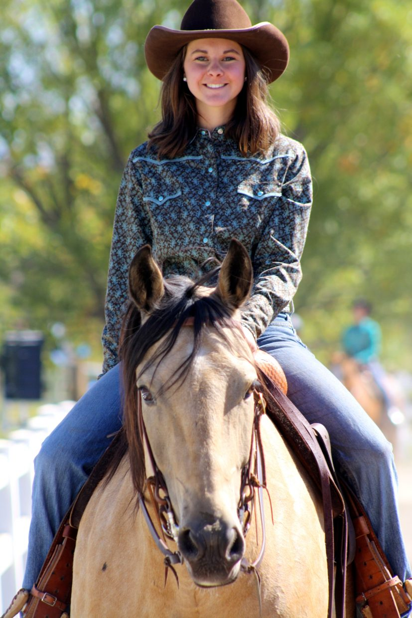 Payton Wendler and Calvin at Cayuse Classic Horse Show at Saddle Mountain Mountain Ranch. Submitted by: Erika Janin