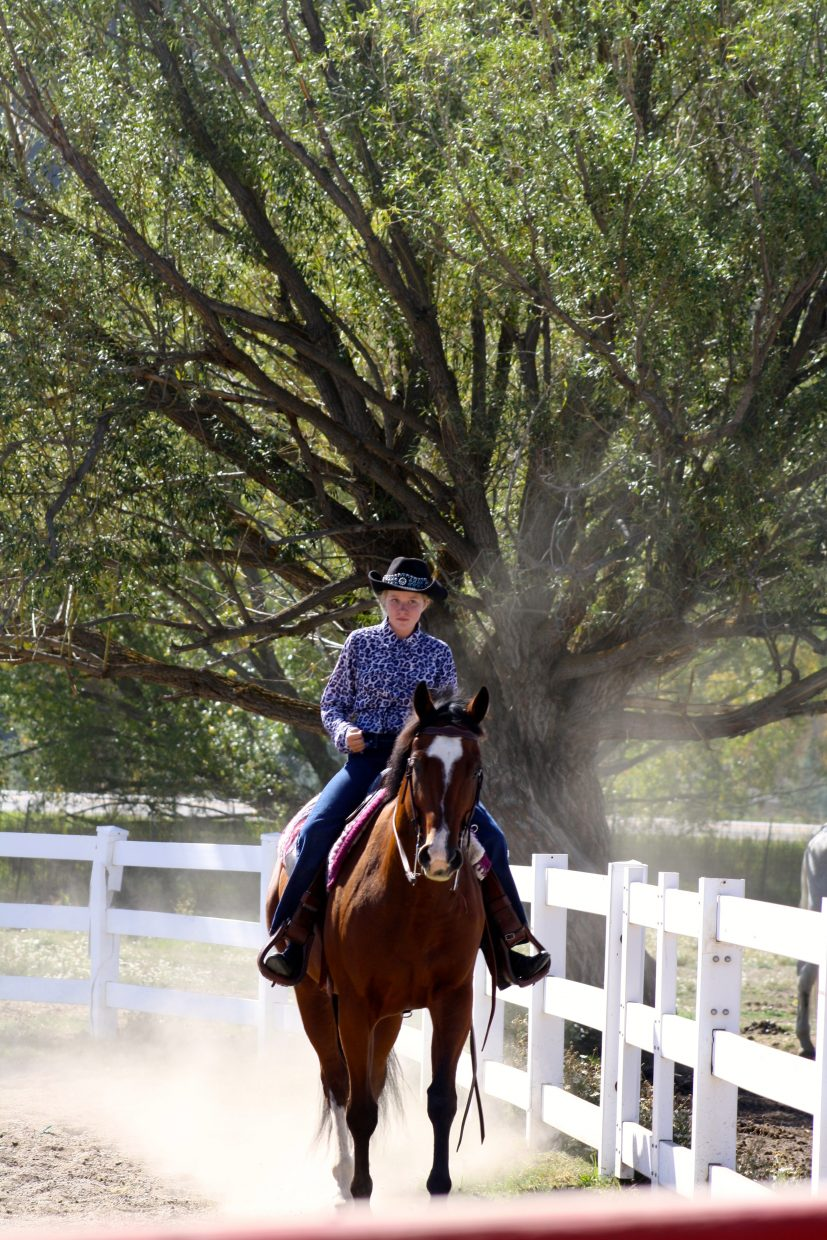 Estelle and Tyler showing at Cayuse Classic Horse Show at Saddle Mountain Ranch. Submitted by: Erika Janin