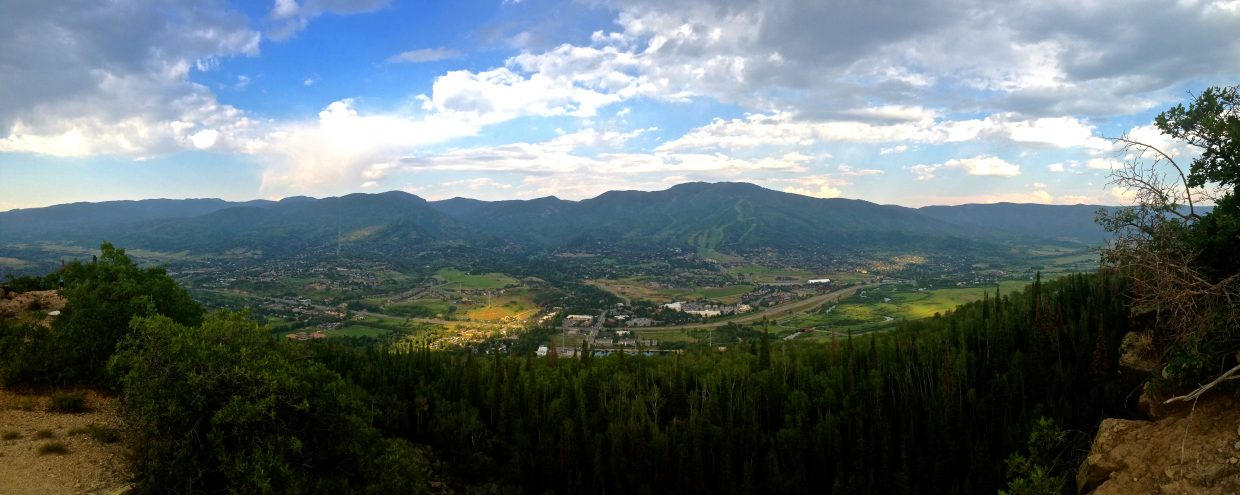 Above Steamboat from Emerald Mtn. Submitted by Garrett Prechtl.