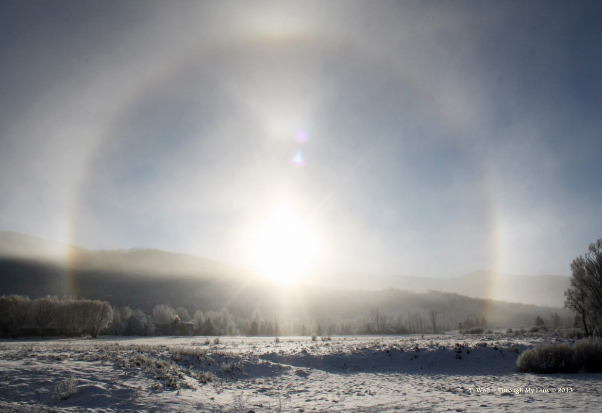 Sundog over Whistler Park at 8:16 a.m. Tuesday. Submitted by: Teri Wall