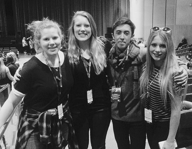 Steamboat Springs High School Drama Troupe students Hannah Heil, Mollie Heil, Dominic McAuliffe and Mayana Gibbs, pictured from left, got superior marks at the Colorado Thespian Conference and qualified for national competition in Lincoln, Nebraska.