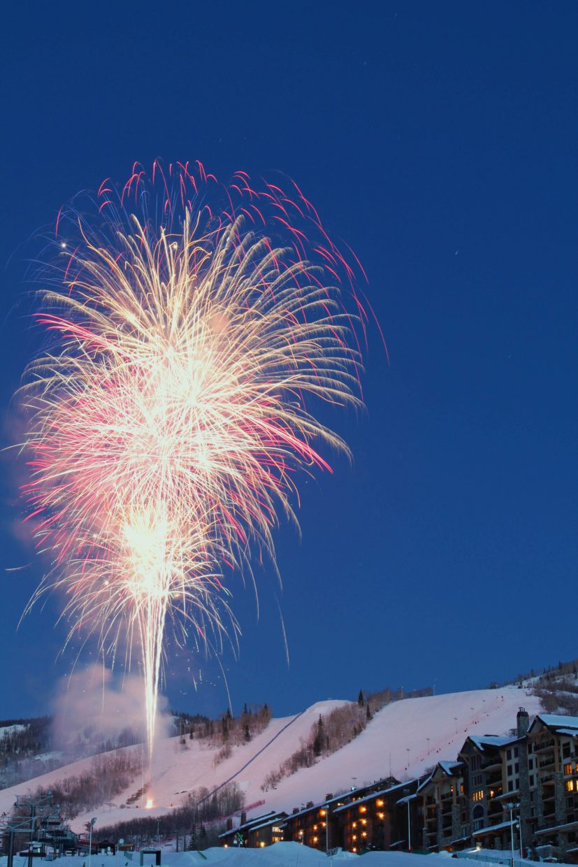 Fireworks at the Olympian sendoff Saturday night. Submitted by Brendan Durrum.