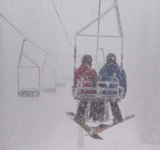 Bar UE lift during snow storm. Submitted by: Janet Dring
