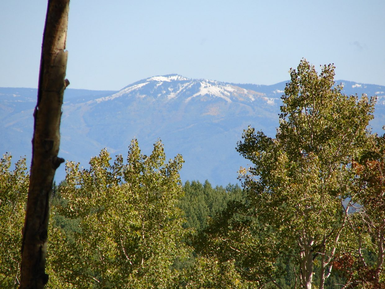 Looking at Steamboat Ski Area from Dunckley Pass. Submitted by: Rex Randall