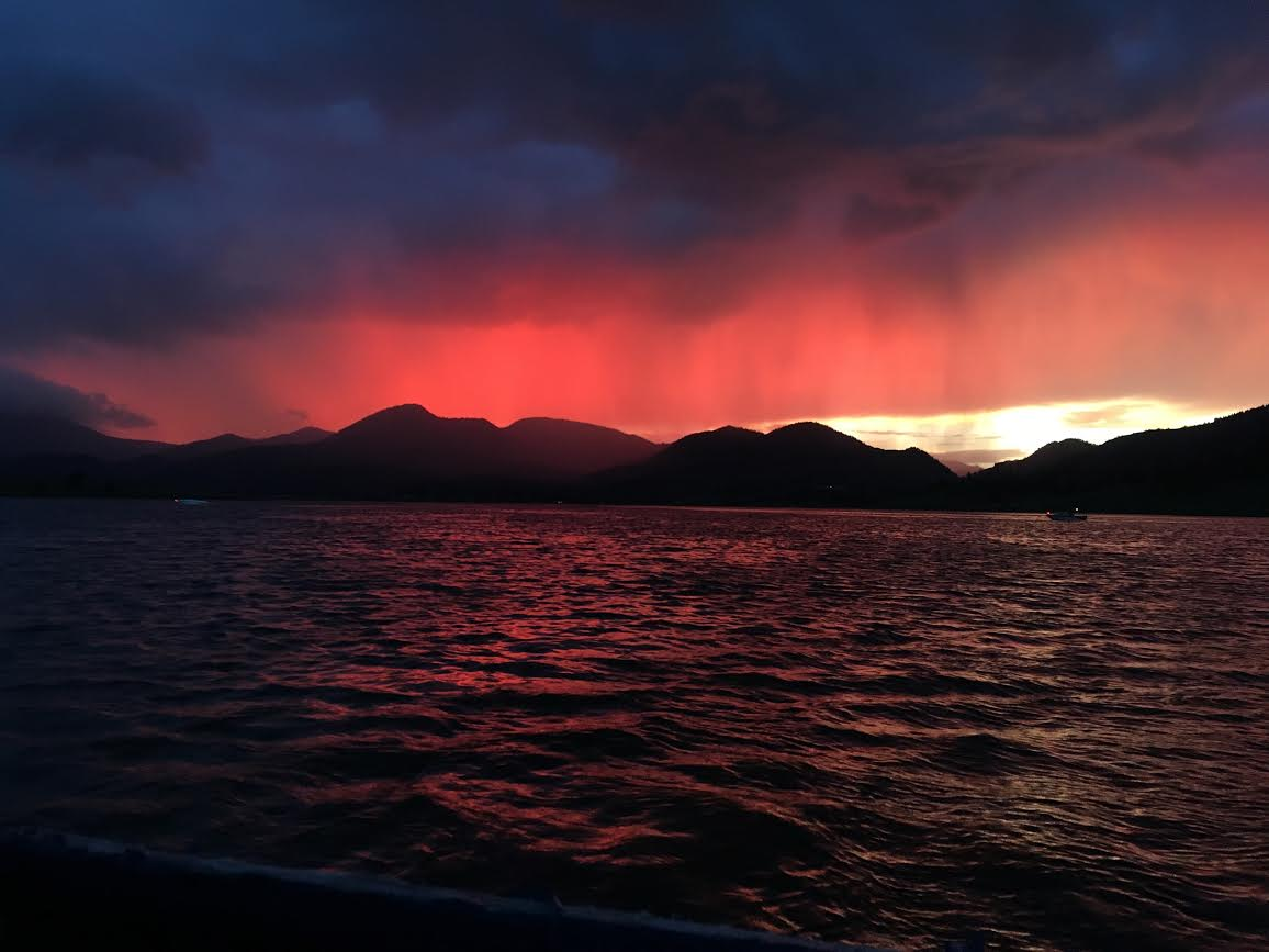 Sunset at Steamboat Lake. Submitted by Jane Nesbitt.