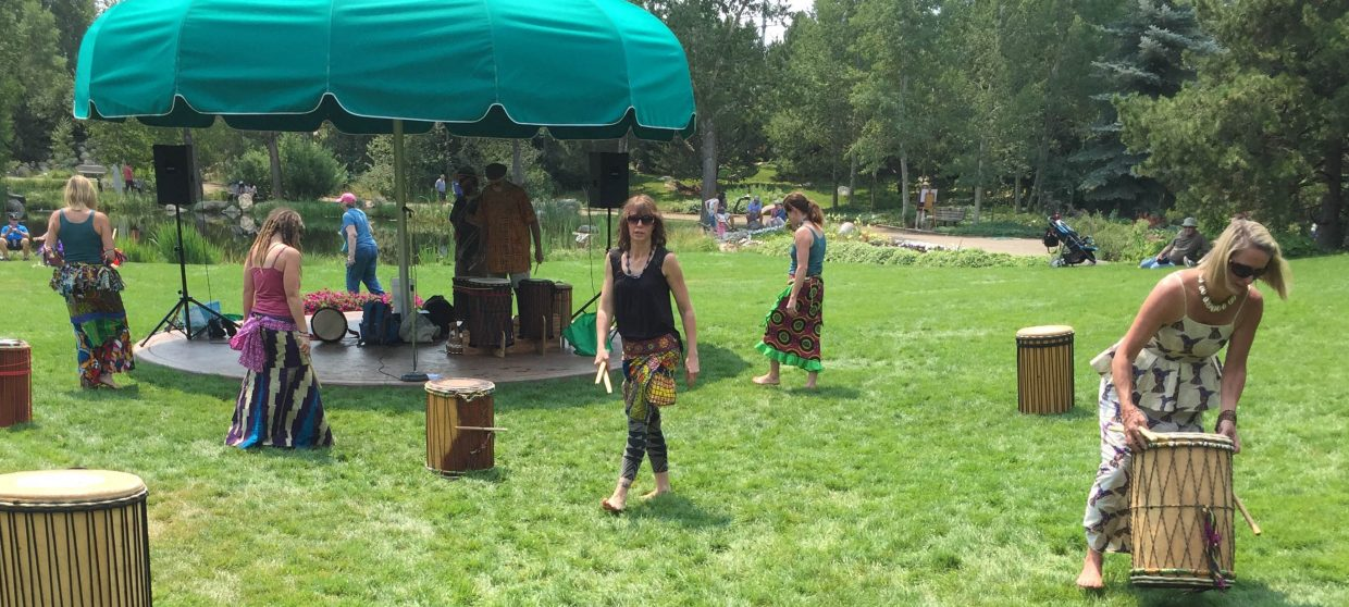 Music on the Green with Steamboat Springs Drummers.