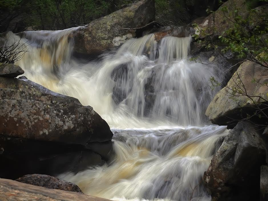 Rapids at Fish Creek Falls. Submitteb by Jeff Hall.
