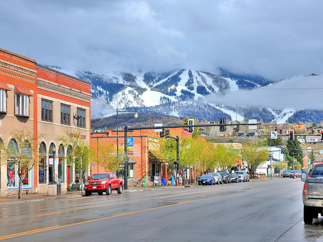 Spring in the valley, winter on the mountain. Submitted by Jeff Hall.
