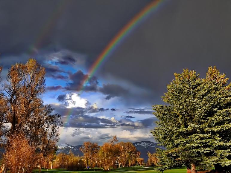 Rainbow at Steamboat Golf Club. Submitted by Jeff Hall.