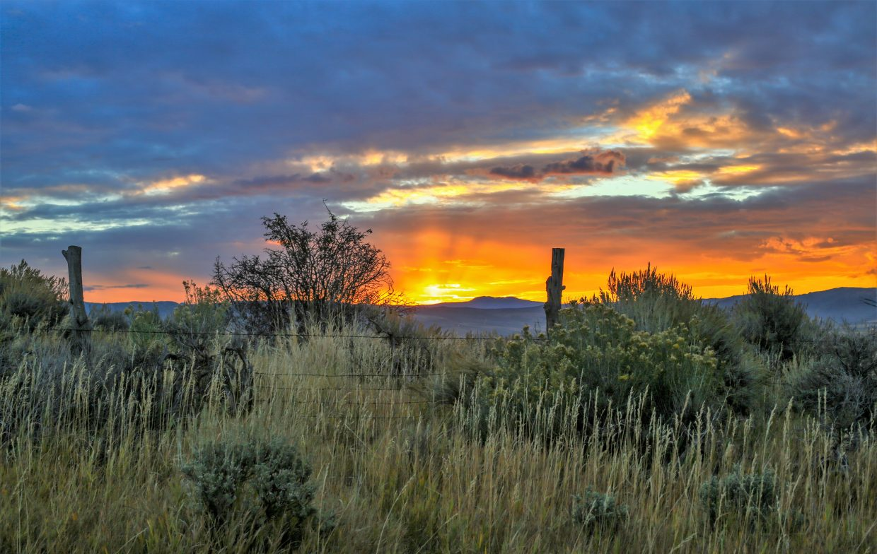 Sunrise in the Yampa Valley. Submitted by Joe Pierce.