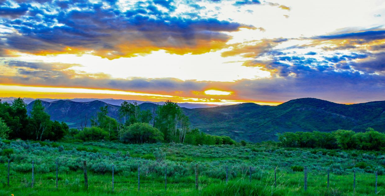 Joe Pierce submitted this photo of a beautiful morning in the Yampa Valley.