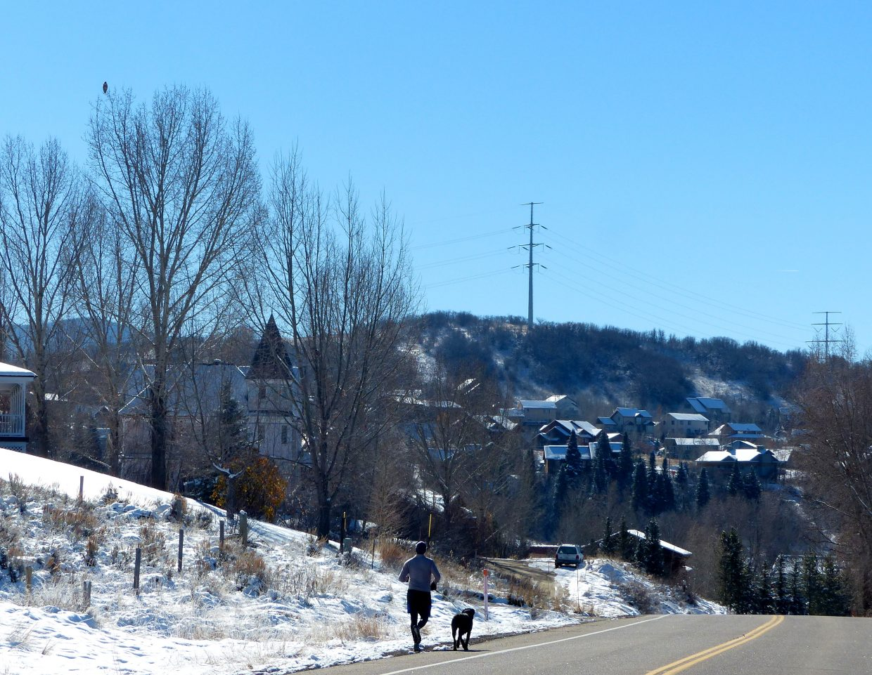 It is a beautiful blue sky day in Steamboat. Two more pictures will follow.