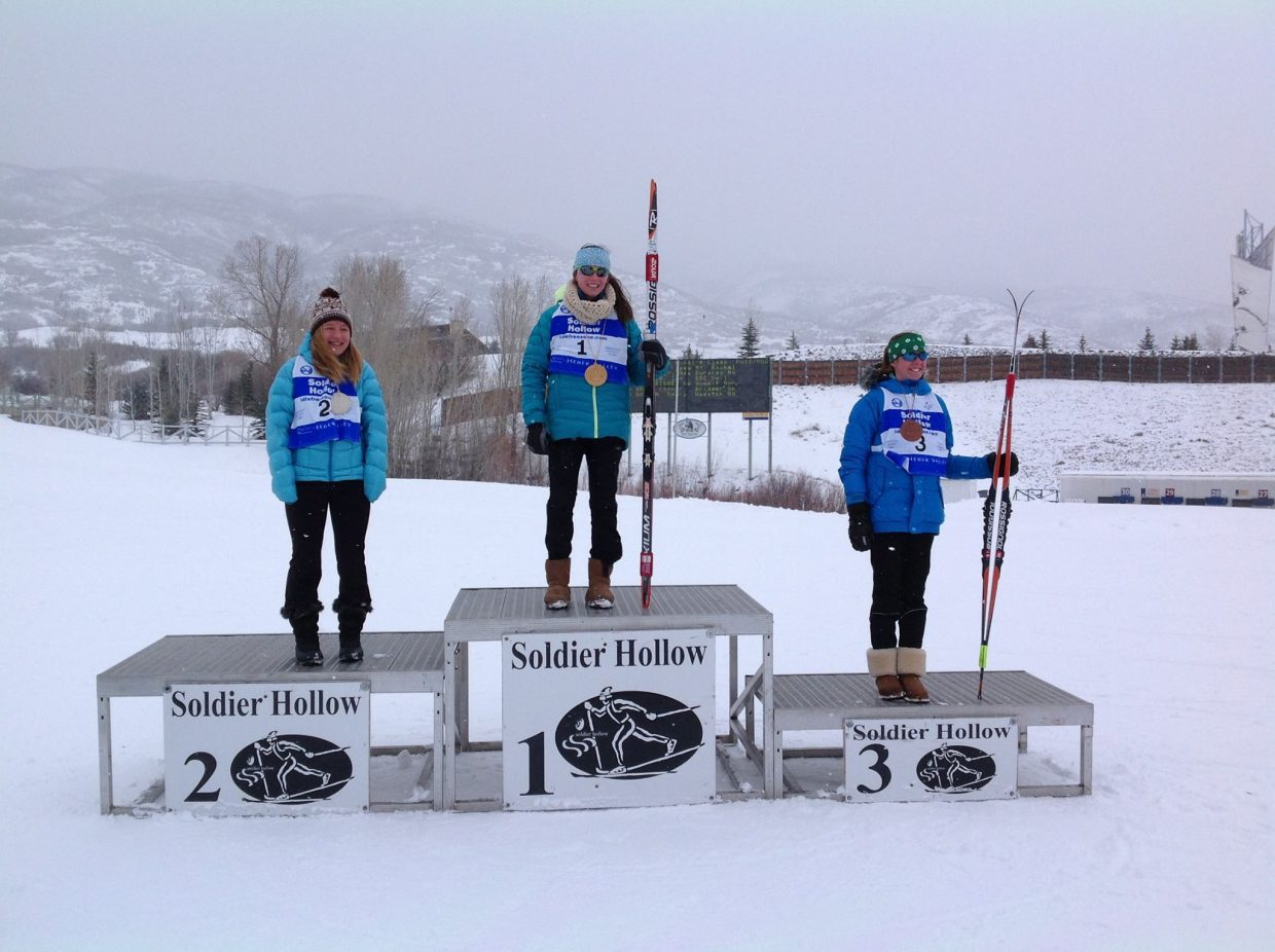Jordi Floyd highlighted the local finishers at the Junior Nationals event in Soldier Hollow, Utah, by racing past 74 other competitors in her division to take first place in the U16 division.