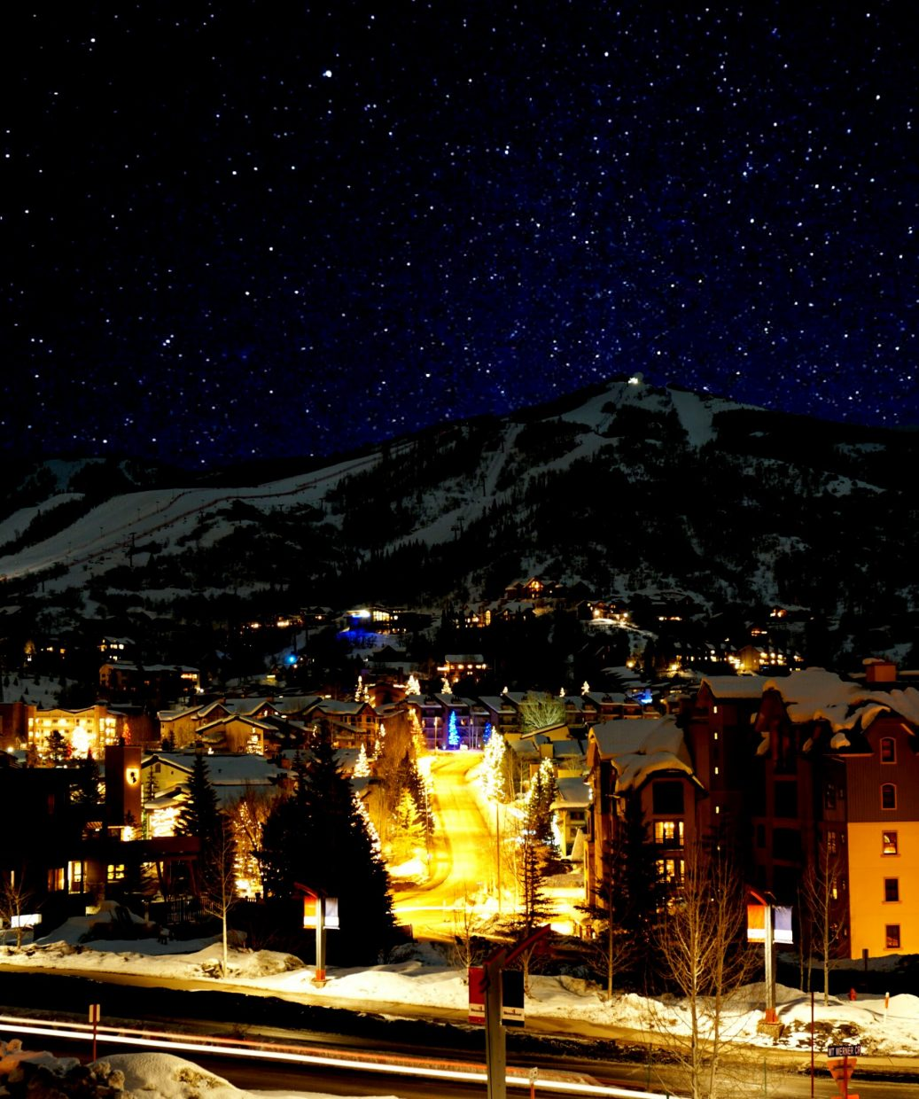 """Night in Steamboat Springs."" Submitted by Josh Robertson."