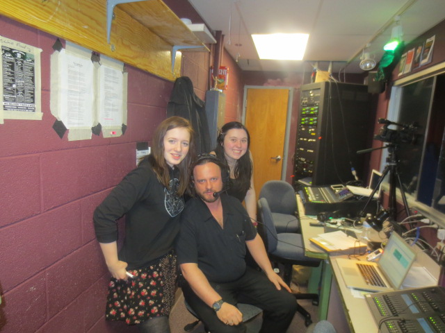 Kassidy Watson, Michael Staley, & Jennifer Wilber run the booth tech for Steamboat Dance Theatre. Submitted by Michael Staley.