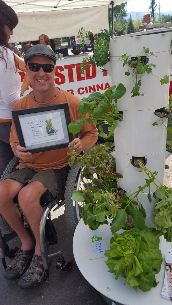 Craig Kennedy and his wife, Andy Kennedy, are at the Farmers Market every Saturday with their Juice Plus Tower Garden booth.