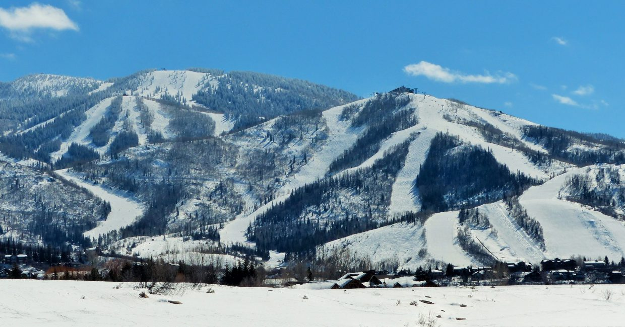 It was a beautiful day in Steamboat on Wednesday. The pictures of the mountain were taken from Rita Valentine Park. Submitted by Shannon Lukens.