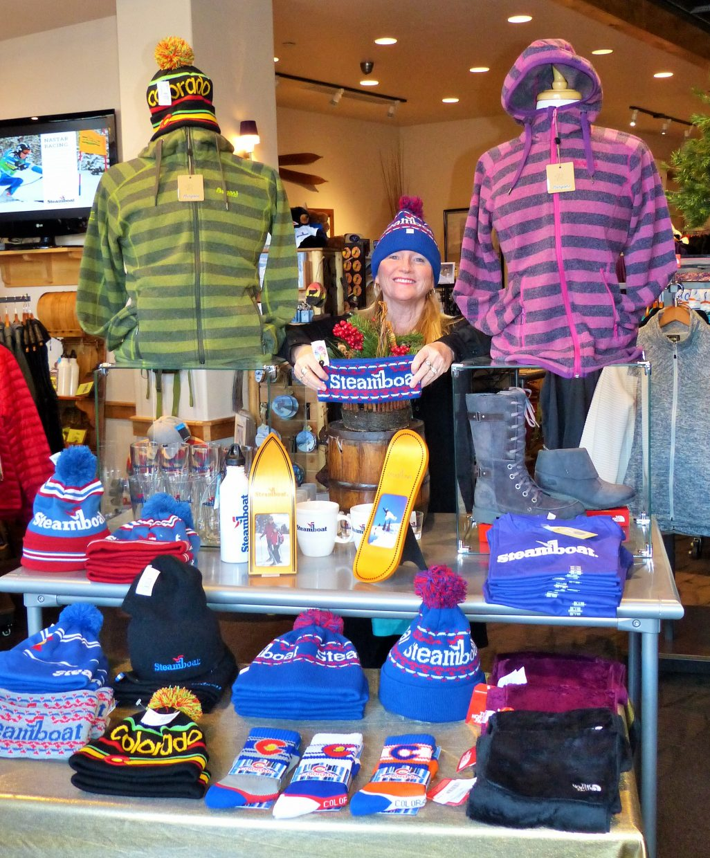 Sara Barry at the Steamboat Apparel Company downtown is ready for holiday shoppers. Submitted by: Shannon Lukens