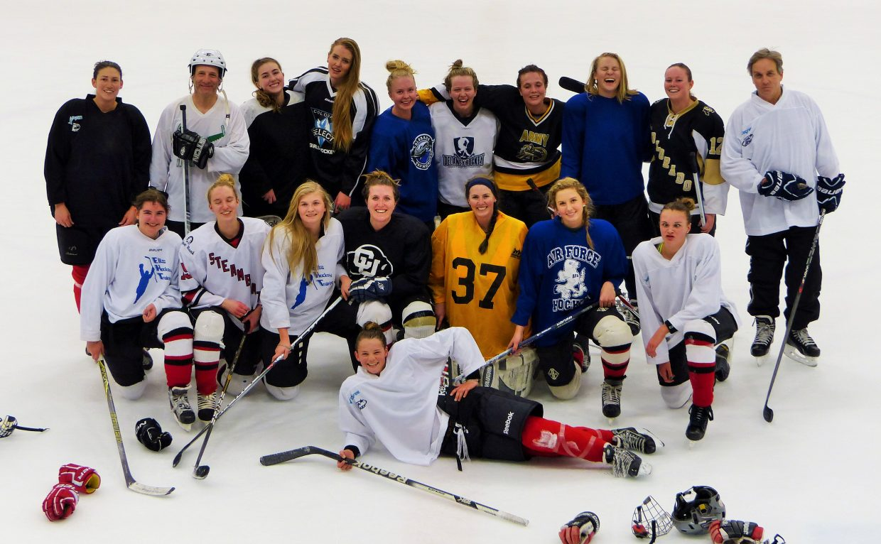 The SSYHA (Steamboat Springs Youth Hockey Association) U19 Alumni had a fun scrimmage with the current U19 team Tuesday night at Howelsen Ice Arena. Submitted by: Shannon Lukens