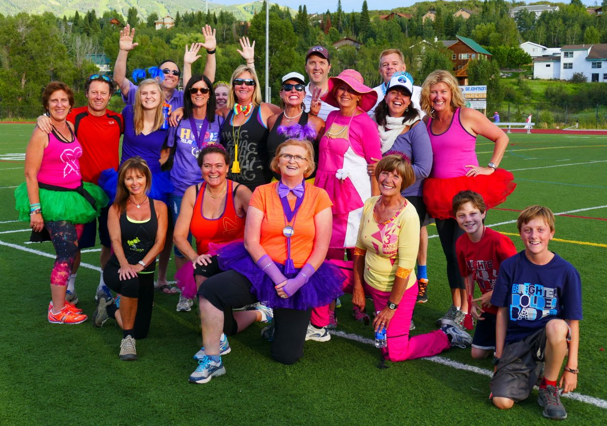 Meet the OTHS Zumba Folks, who participated in Relay for Life in Steamboat Springs. Submitted by Shannon Lukens.