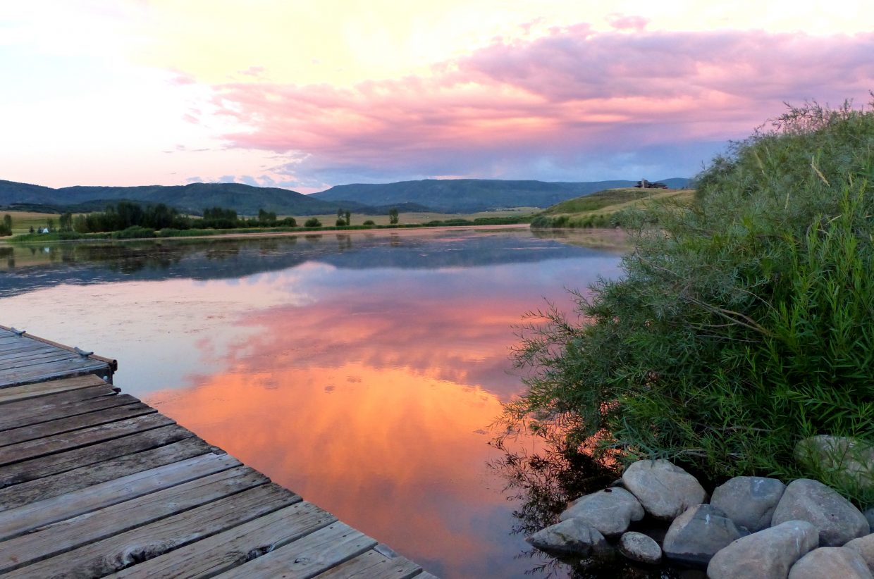 Sunrise over Lake Catamount this morning. Lake Catamount is just outside of Steamboat. It was beautiful. Submitted by Shannon Lukens.