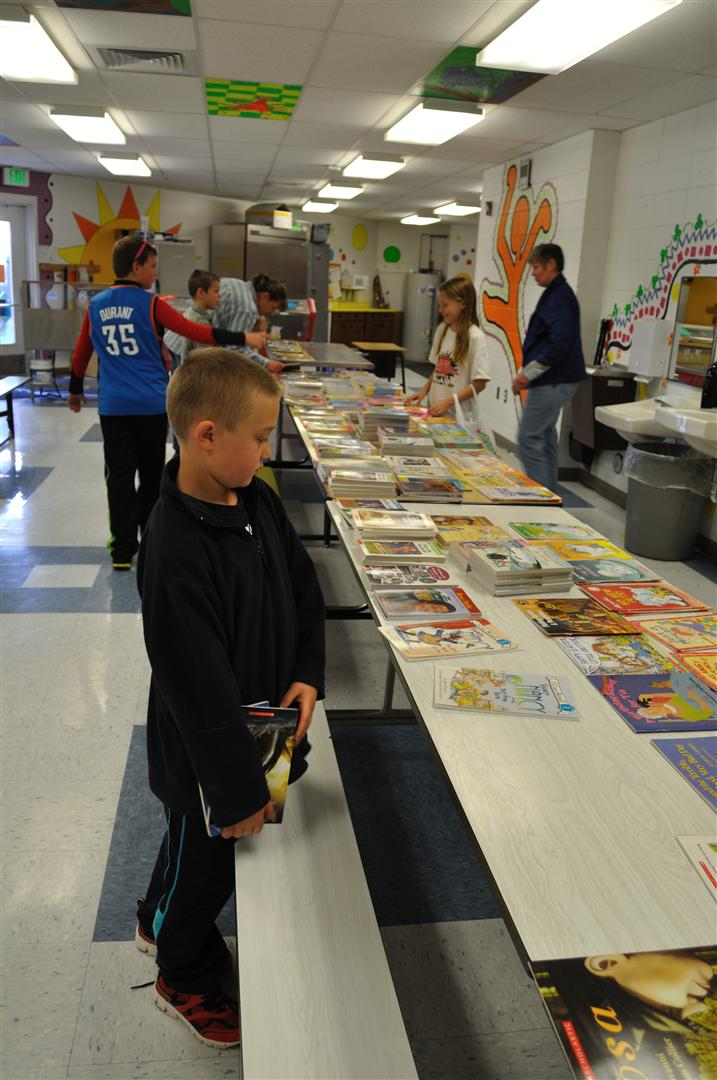 Landon Ripley at the Literacy Carnival at South Routt Elementary School. Submitted by: Audrey Walker