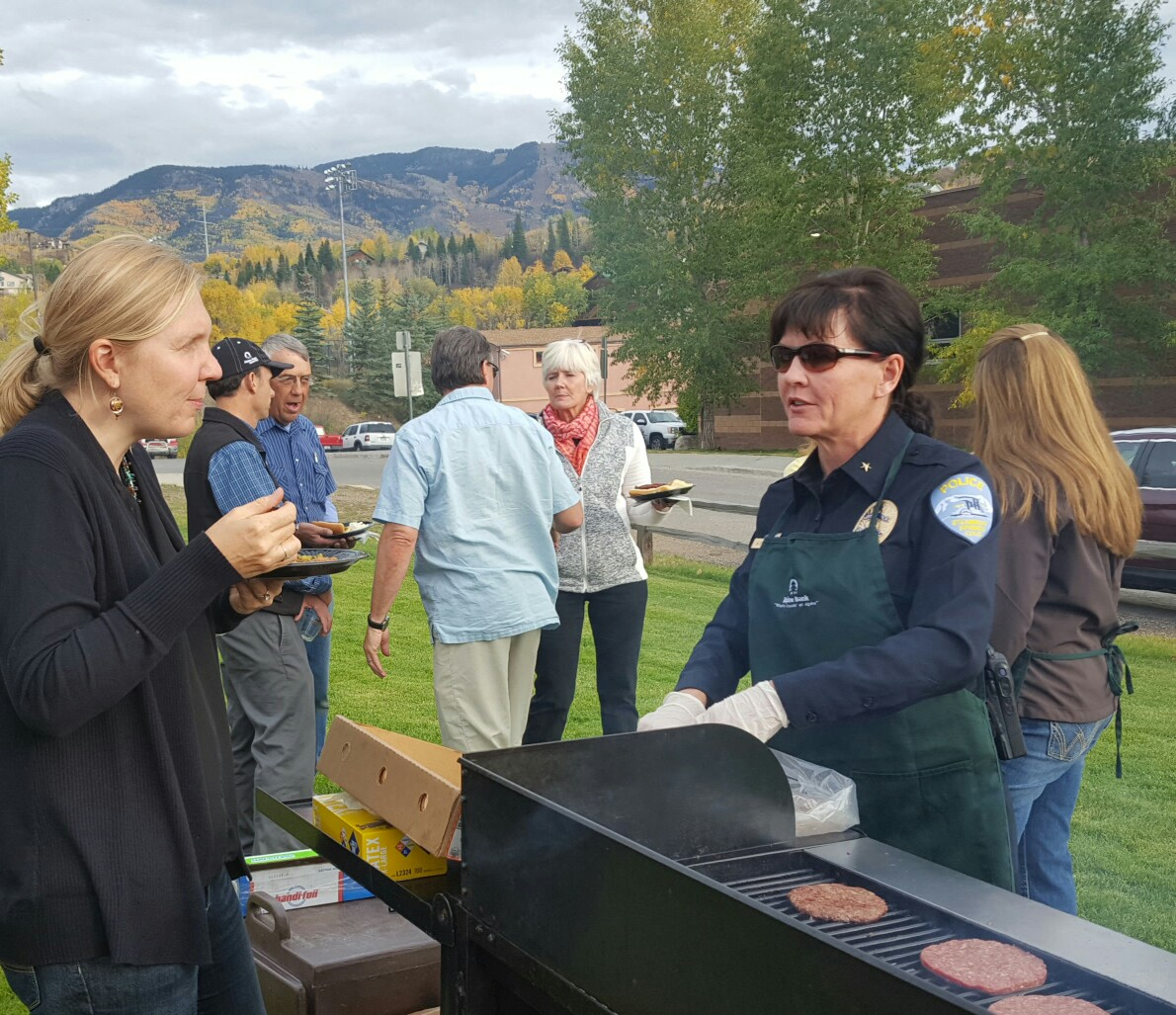 Alpine Bank's Lily Lewis and Steamboat Springs Police Commander Annette Dopplick.